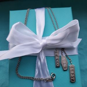 Tiffany Dangle Sikver   Necklace